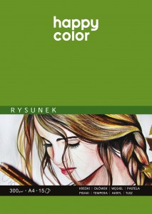 HAPPY COLOR Blok do rysunku A4 300g 15 kartek