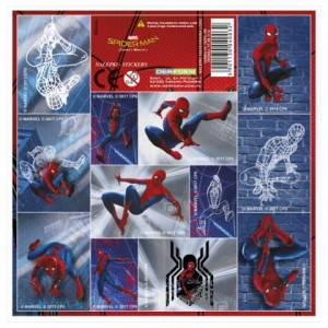 NAKLEJKI 16x16 Spiderman Marvel