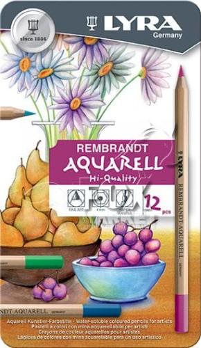 Kredki akwarelowe LYRA Rembrandt 12 kolorów METAL